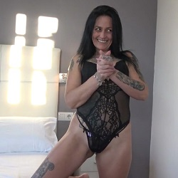 Sofia doesn't even wait for the TWINK to step out of the shower to get on her knees and eat his dick. PepePorn.com