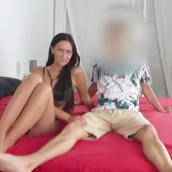 CUCKOLD!!! Gina bangs Jose in front of her boyfriend and the cuckold gives her instructions on how to fuck her