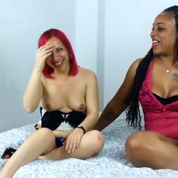 Tania and Davinia asked us for a GANGBANG. We interview her before the orgy they long for.